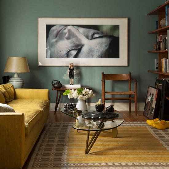 Wohnzimmer grun gelb
