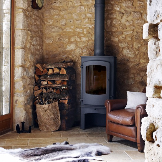Country living room stove living room design - Living room with wood burning stove ...