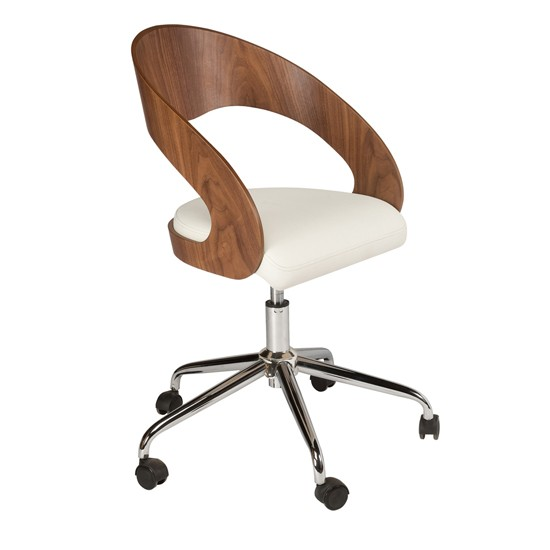 Curved Padded Office Chair From Dwell