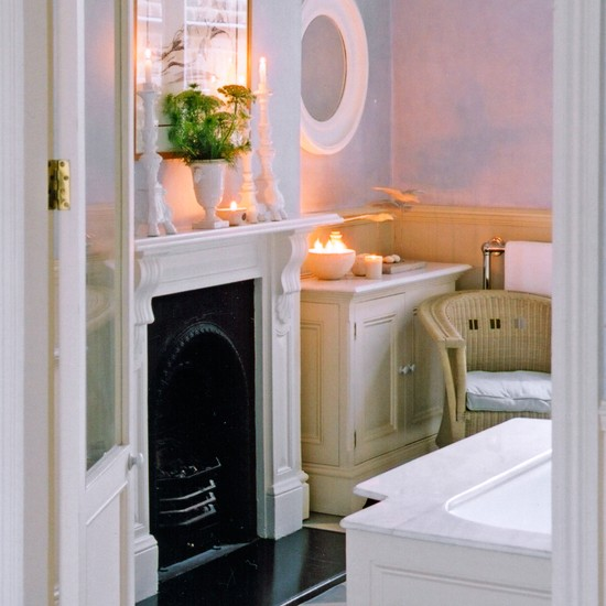 Include A Fireplace Relaxed Bathroom Design Ideas
