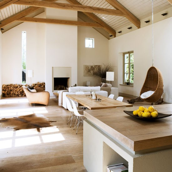 Modern Rustic Living Room: Take A Tour Around An Eco-friendly New Build