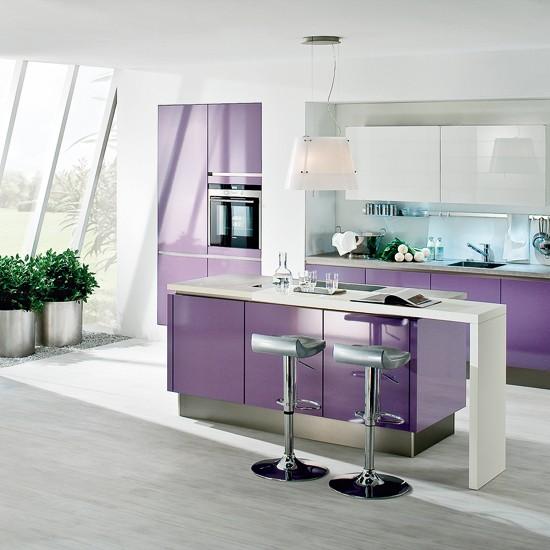 New Modern Kitchens At Neil Lerner: Diva Kitchen In Violet From Neil Lerner Kitchens