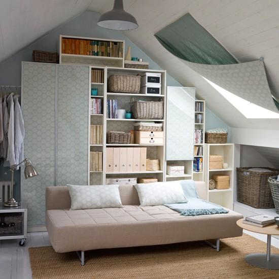 Attic Living Room Storage