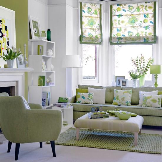 fresh green living room living room de 海外部屋作り ミント