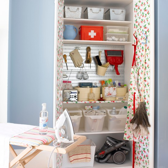 Small House Storage Solutions: Fit A Laundry Room In A Cupboard