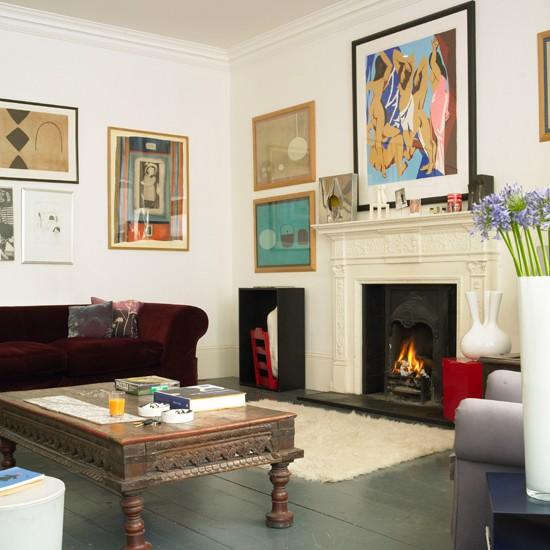 Boho-chic living room | Step inside a colour expert's boho ...