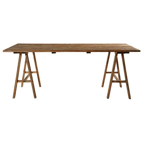 trestle dining tables 10 of the best. Black Bedroom Furniture Sets. Home Design Ideas