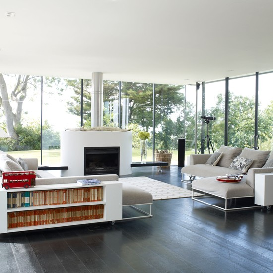 Open Plan Living Design Tips And Ideas: Modern Open-plan Living Room