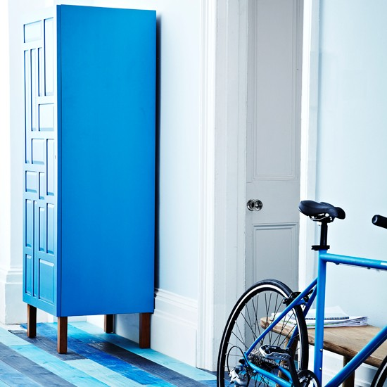 Blue Hallway With Armoire Modern Hallway Housetohome Co Uk