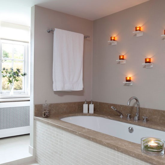 Bathroom Lighting Ideas: Bathroom With Decorative Wall Lights