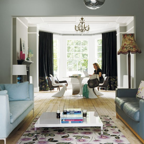 Take a look around a stylish london villa - Modern victorian living room ...
