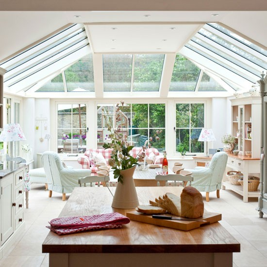 Open-plan Country Conservatory