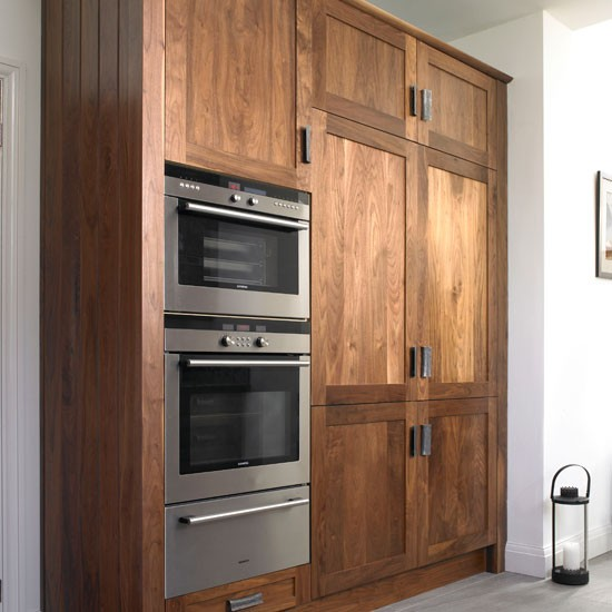 Kitchen Oven Cabinets: Take A Look Around This Chic Walnut Kitchen