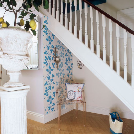Surprising Staircase Ideas In Small Spaces Engaging: Decorating Ideas For Small Hallways