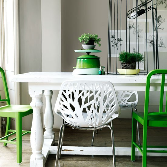 Green Dining Room Chairs: Modern Green Dining Room