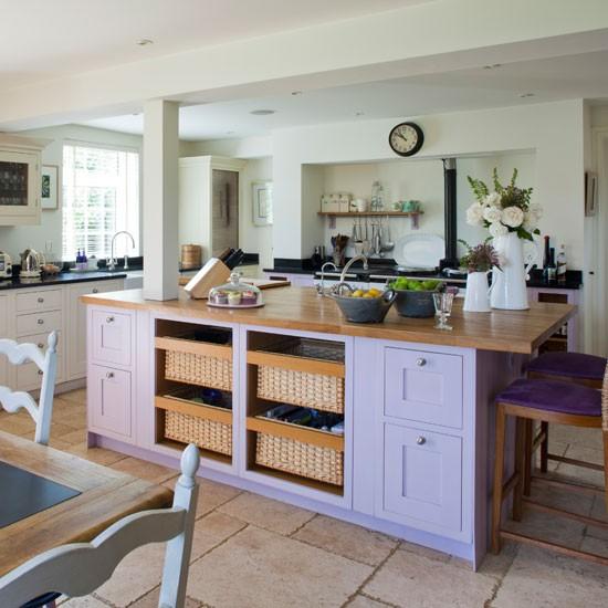 Housetohome Co Uk: Purple Kitchen Island