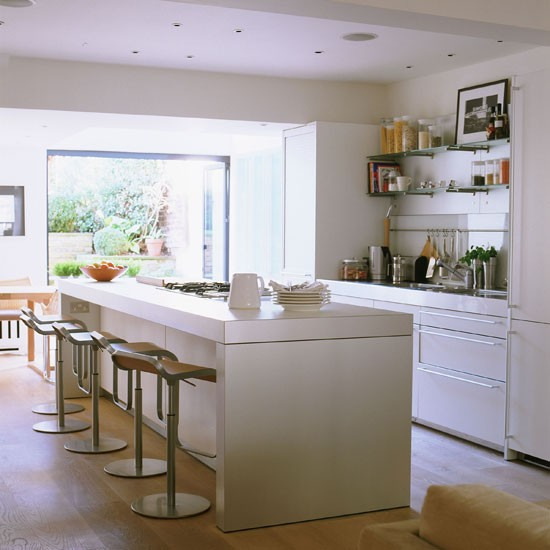 Kitchen breakfast bar | Take a tour of this contemporary