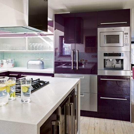 Modern Purple Kitchen Tour