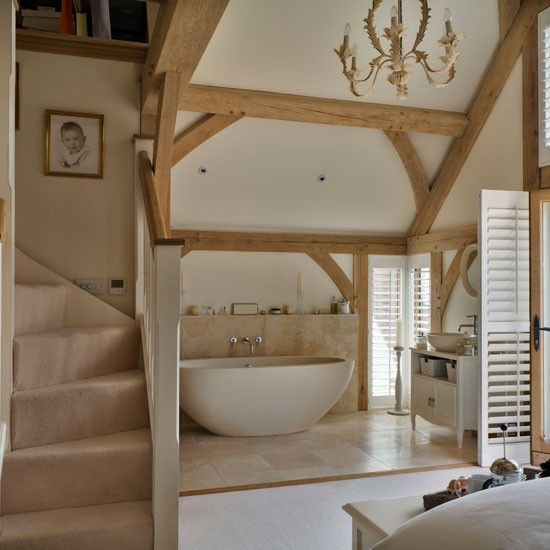 Bedroom With Ensuite Bathroom: Be Inspired By This Rustic New-build