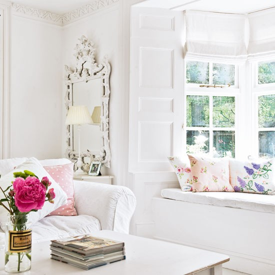 room with window seat white living room living room decorating. Black Bedroom Furniture Sets. Home Design Ideas