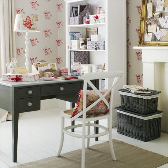 Go For A Feminine Country Home Office