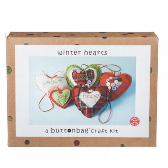 Oxfam Christmas Trees: Heart Decorations Craft Kit From Oxfam