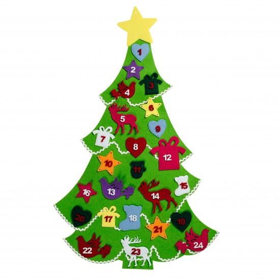 Felt Christmas Tree Advent Calendar: Felt Advent Tree Calendar From Debenhams