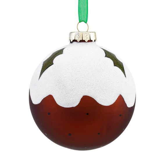 Christmas Pudding Bauble From Sainsbury's