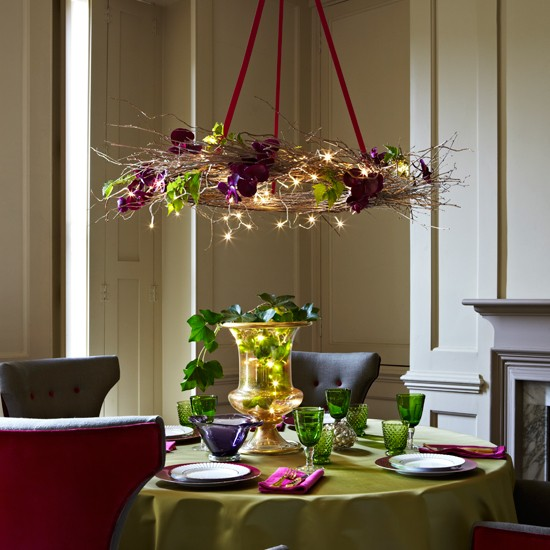 Holiday Home Design Ideas: Add Festive Lighting To The Christmas Table