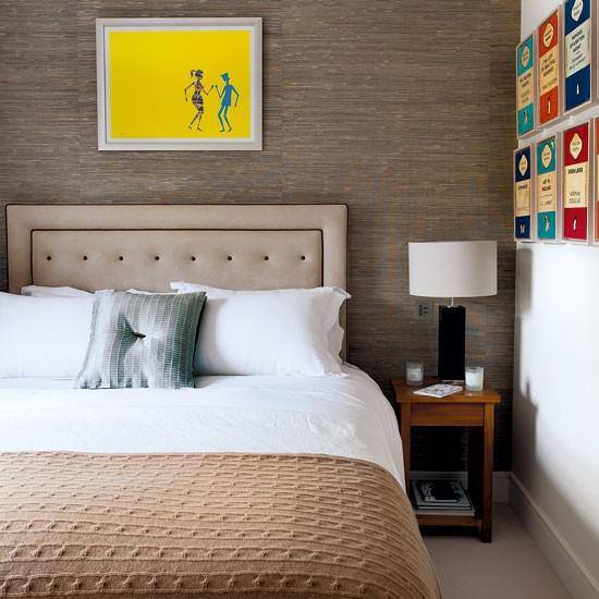Guest Bedroom Ideas Uk Bedroom Curtains Argos Jcpenney Bedroom Furniture Loft Bedroom Sets: Neutral Guest Bedroom With Artwork