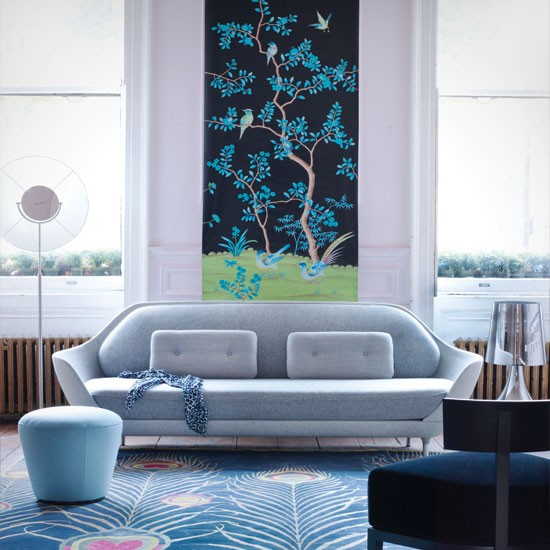 Blue Chinoiserie Living Room
