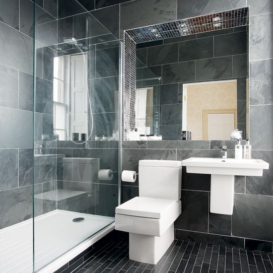 New Home Designs Latest Modern Homes Modern Bathrooms: Modern Charcoal-grey Bathroom