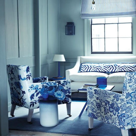 20 Charming Blue And Yellow Living Room Design Ideas: Blue Living Room Decor 2017