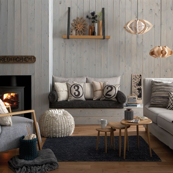Cosy Grey And Warm Oak Living Room