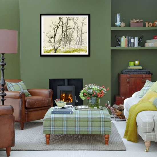 Forest green living room living room decorating ideas living room