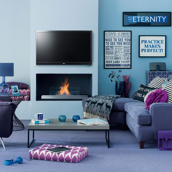 Blue Room: Living Room Decorating Ideas