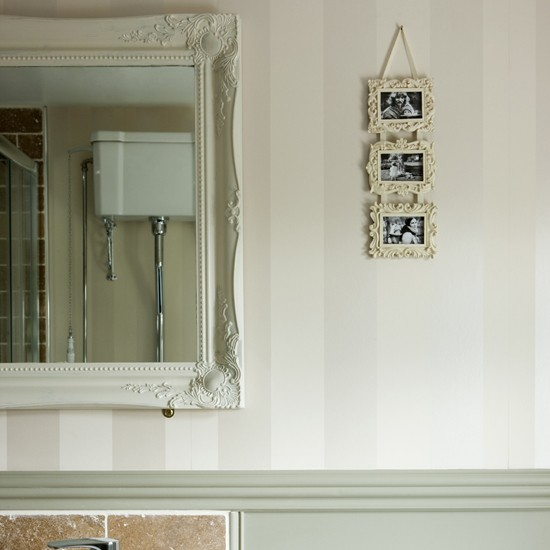 Modern French Bathroom: Customised French-style Mirror