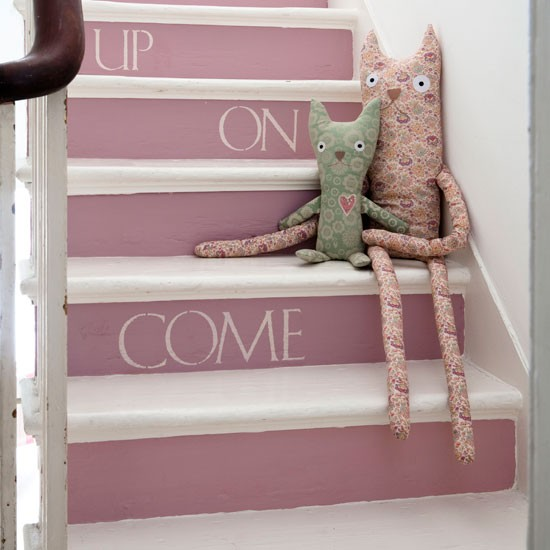 Staircase Ideas Creative Ways To Add Style: Decorate With Paint - 10 Country-style