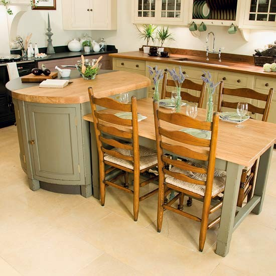 Dining Table In Kitchen Ideas: Large-scale Central Island
