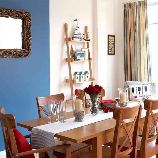 Bright Room: Bright Nautical Dining Room