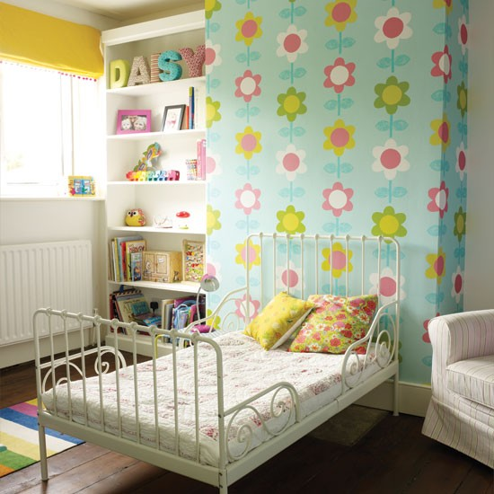 Contemporary Kids Room: Modern Floral Girl's Bedroom