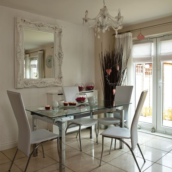 Glass Dining Room: Modern Glass And Chrome Dining Room
