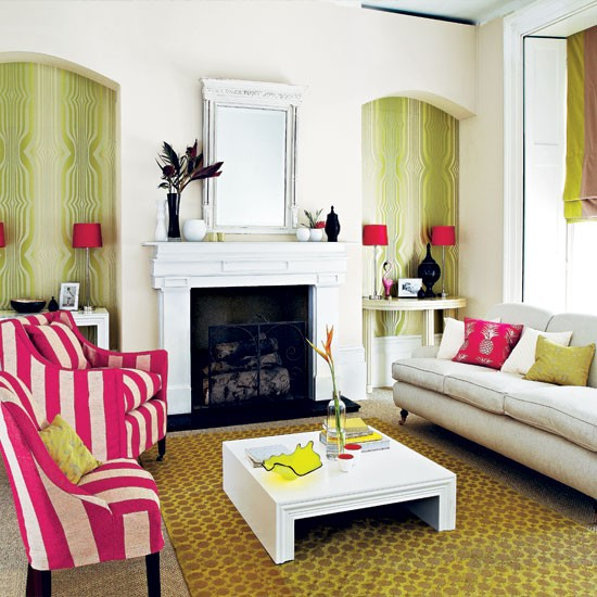 Bold Room Designs: Bold Patterned Living Room