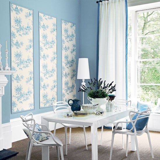 Blue Dining Room Decoration: Pretty Pale Blue Dining Room