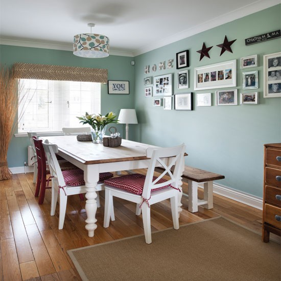 Dining Room Colors: Pale Green Country Dining Room