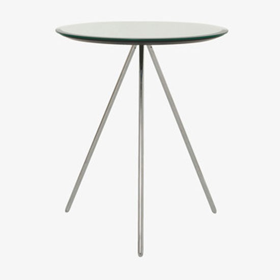 Habitat Herrmann Square Glass Coffee Table: Sparkle Round Table With Tripod Legs From Habitat