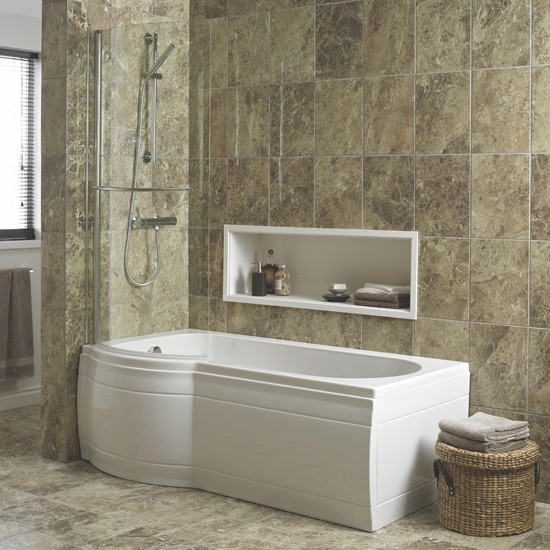 Adelphi Curved Shower Bath By Cooke & Lewis At B&Q