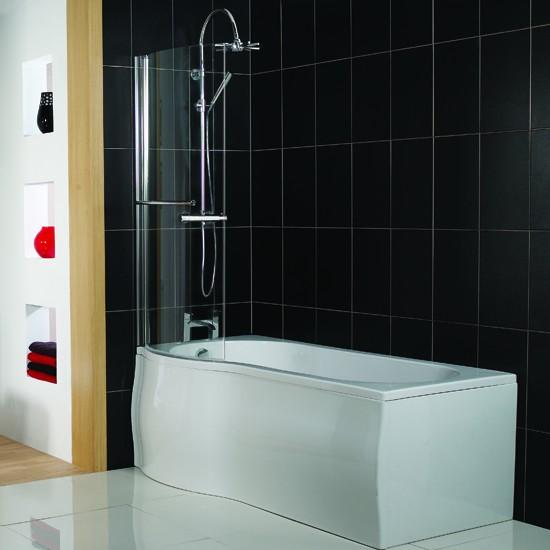 Plumb Bathroom P Shaped Shower Bath From Victoria Plumb Jerusalem