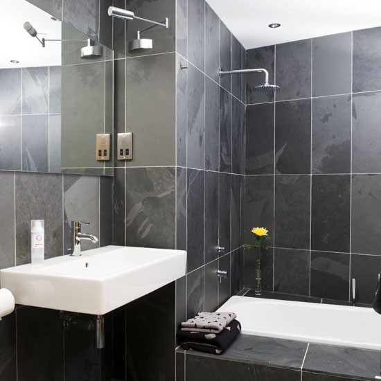 Bathroom Tile Colour Schemes: Monochrome Bathroom Scheme
