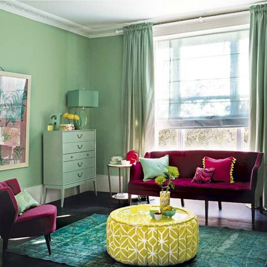 Bold Room Designs: Bold Colourful Living Room